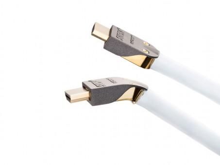 Supra Cables High Speed HDMI Kabel MET-S/B abnehmbaren Stecker mit Ethernet 0,5 Meter (8K)